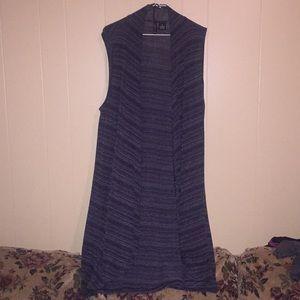Long cardigan vest